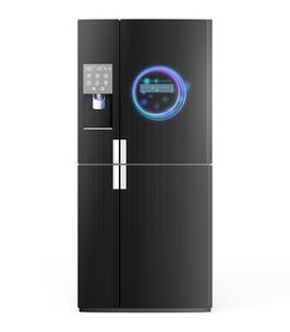 アイスディスペンサー付きスマート冷蔵庫イメージの写真素材 [FYI04648192]