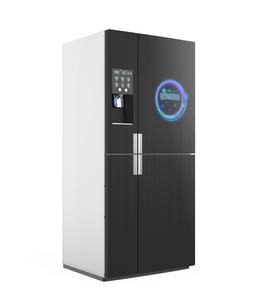 アイスディスペンサー付きスマート冷蔵庫イメージの写真素材 [FYI04648197]