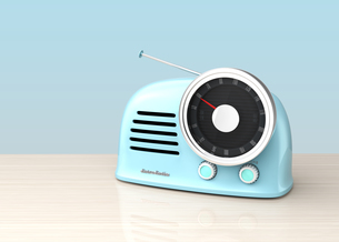 レトロスタイルのラジオの写真素材 [FYI04648199]