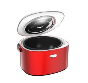 ふたが開いた赤色の炊飯器の写真素材 [FYI04648209]
