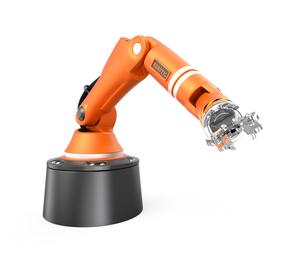 オレンジ色フロアマウント式ロボットアームの写真素材 [FYI04648210]