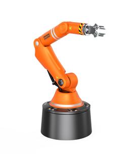 オレンジ色フロアマウント式ロボットアームの写真素材 [FYI04648213]