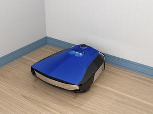 ドックステーションに充電するロボット掃除機の写真素材 [FYI04648223]