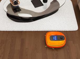 リビングにあるお掃除ロボットの写真素材 [FYI04648234]