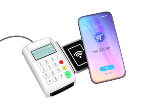 スマートフォンによるモバイルキャッシュレス決済のコンセプトの写真素材 [FYI04648272]