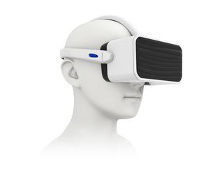 VRヘッドセットイメージの写真素材 [FYI04648305]