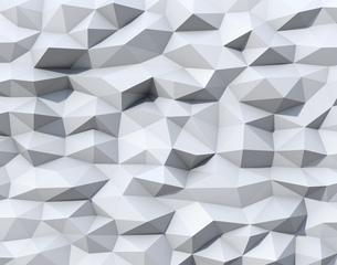 抽象的な白いポリゴンの背景グラフィックの写真素材 [FYI04648344]
