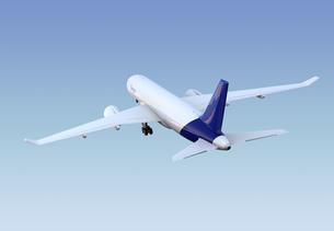 離陸中の貨物機のCGレンダリングイメージの写真素材 [FYI04648353]