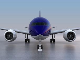 滑走路に待機する旅客機のCGレンダリングイメージの写真素材 [FYI04648362]