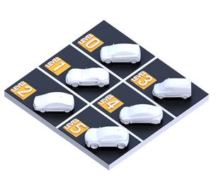自動運転レベル分類(レベル0~4)のコンセプトイメージの写真素材 [FYI04648377]