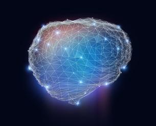 光る頭脳のメッシュネットワーク。人工知能のコンセプトイメージの写真素材 [FYI04648382]