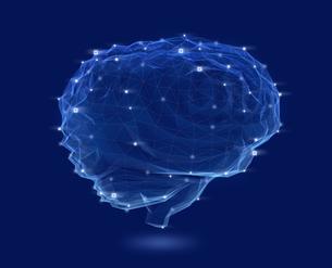 光る頭脳のメッシュネットワーク。人工知能のコンセプトイメージの写真素材 [FYI04648387]