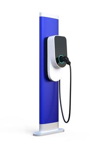 白バックにある充電スタンドのイメージ。オリジナルデザインの写真素材 [FYI04648470]