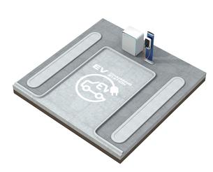 電気自動車充電専用マークがある公共駐車場のイメージの写真素材 [FYI04648490]