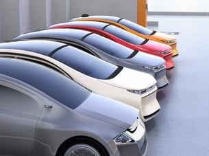 電気自動車専用駐車場のイメージの写真素材 [FYI04648503]