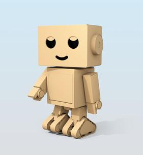 かわいい段ボール箱のロボットのイメージの写真素材 [FYI04648509]