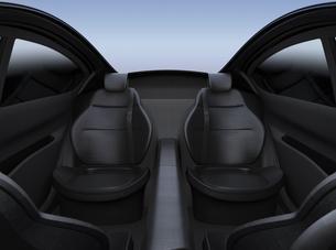 ラグジュアリー自動運転車の後部座席のイメージの写真素材 [FYI04648553]
