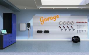 急速充電器が備えている車庫のイメージの写真素材 [FYI04648694]