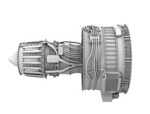 ターボファンエンジンのグレイシェーディングイメージの写真素材 [FYI04648705]