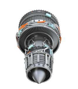 ターボファンエンジンの3Dイメージの写真素材 [FYI04648707]