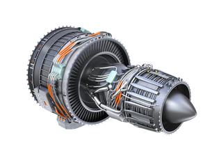 ターボファンエンジンの3Dイメージの写真素材 [FYI04648709]