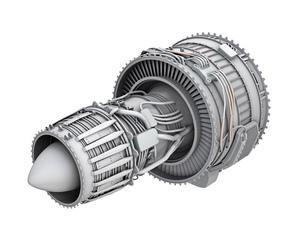 ターボファンエンジンのグレイシェーディングイメージの写真素材 [FYI04648710]