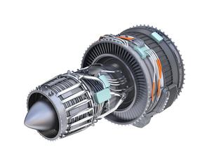 ターボファンエンジンの3Dイメージの写真素材 [FYI04648711]