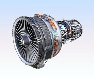 ターボファンエンジンの3Dイメージの写真素材 [FYI04648712]