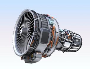 ターボファンエンジンの3Dイメージの写真素材 [FYI04648713]