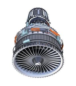 ターボファンエンジンの3Dイメージの写真素材 [FYI04648715]