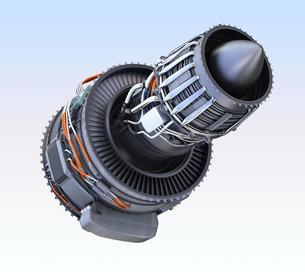 ターボファンエンジンの3Dイメージの写真素材 [FYI04648717]