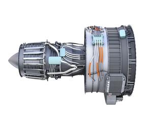ターボファンエンジンの3Dイメージの写真素材 [FYI04648719]