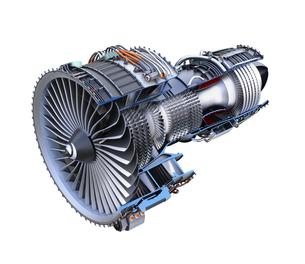 ターボファンエンジンの3Dカットモデルイメージの写真素材 [FYI04648721]