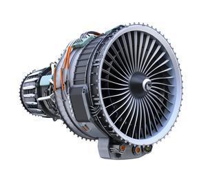 ターボファンエンジンの3Dイメージの写真素材 [FYI04648722]