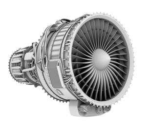 ターボファンエンジンのグレイシェーディングイメージの写真素材 [FYI04648724]