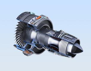 ターボファンエンジンの3Dカットモデルイメージの写真素材 [FYI04648726]