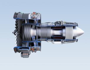 ターボファンエンジンの3Dカットモデルイメージの写真素材 [FYI04648729]