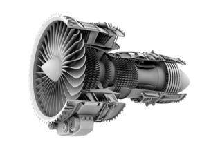 ターボファンエンジンのグレイシェーディングカットモデルイメージの写真素材 [FYI04648732]