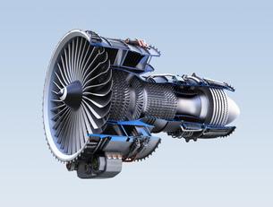 ターボファンエンジンの3Dカットモデルイメージの写真素材 [FYI04648736]