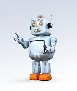 レトロスタイルのロボットの写真素材 [FYI04648758]
