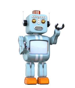 レトロスタイルのロボットの写真素材 [FYI04648759]