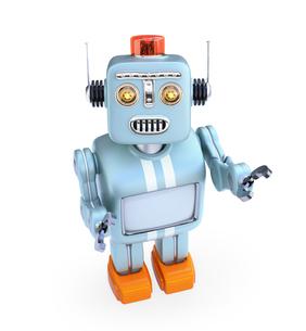 見上げるレトロロボットの写真素材 [FYI04648760]
