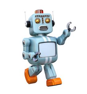 レトロスタイルのロボットの写真素材 [FYI04648762]