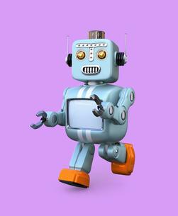レトロスタイルのロボットの写真素材 [FYI04648763]