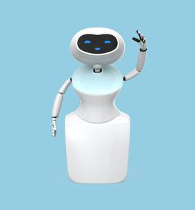 人型ロボットのイメージの写真素材 [FYI04648766]