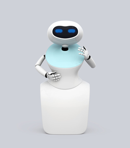 人型ロボットのイメージ。オリジナルデザインの写真素材 [FYI04648773]