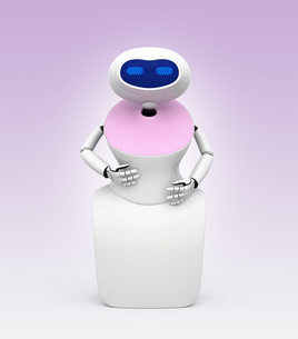 人型ロボットのイメージ。オリジナルデザインの写真素材 [FYI04648776]