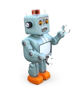 レトロスタイルのロボットの写真素材 [FYI04648777]