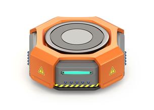 物流倉庫用自動運搬ロボットのイメージの写真素材 [FYI04648789]
