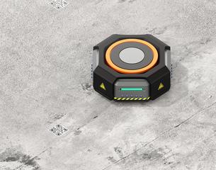 物流倉庫用自動運搬ロボットのイメージの写真素材 [FYI04648795]